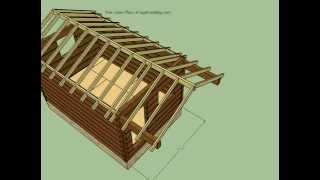 12x18 Log Cabin Plans - Sketchup Model