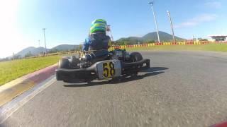 Copa SPR Light de Kart 1ª Etapa - Primeira Bateria   Matheus Schillo #12