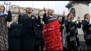 Te Kāea: Turakina performing outside Parliament - RAW footage