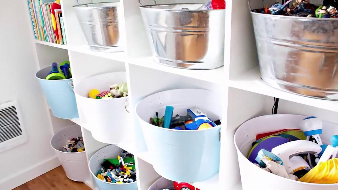 10 Toy storage organization ideas solutions - YouTube