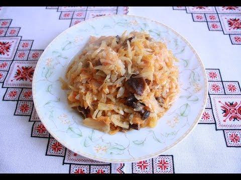 Тушеная капуста рецепт Капуста тушеная с грибами Блюда из капусты Тушена капуста рецепт Капуста туше