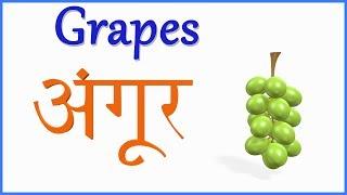 हिंदी और अंग्रेजी में फलों के नाम सीखें | हिन्दी बाल गीत | Fruit Names in Hindi & English