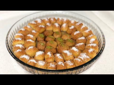 10 Dakikada İrmikli Kesme Tatlısı Tarifi /Tek Lokmalık Şerbetli Kolay Tatlı Tarifi/Seval Mutfakta