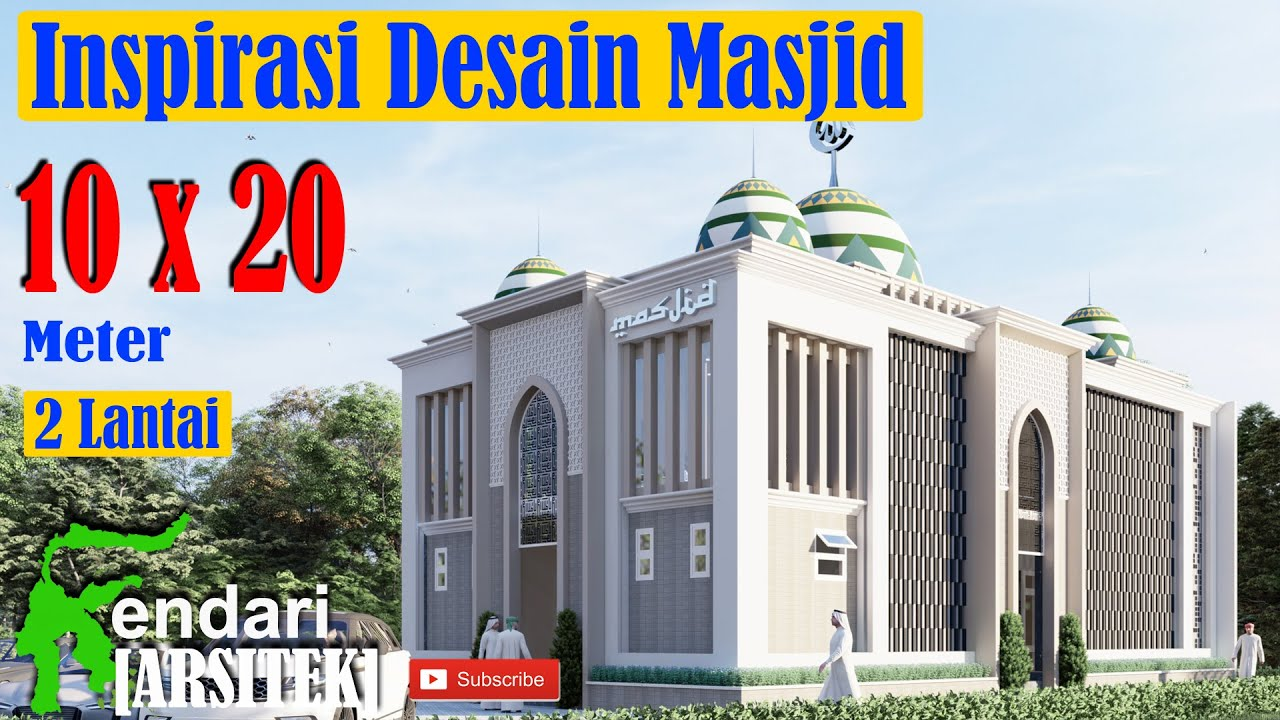 Modern Minimalist Mosque Design 2 Floors 10x20 Meters