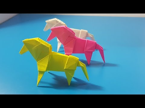 Nghệ Thuật ORIGAMI - How to make paper horse  || Origami art horse