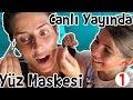 Instagram 'da Canlı Yayındayken Yüz Maskesi Yaptık - 1.Bölüm | Bizim Aile Eğlenceli Çocuk Videoları