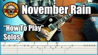Guns N' Roses November Rain SOLOS LESSON with tabs