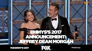 THE EMMY'S 2017 | Jeffrey Dean Morgan rocks announcement blunder | FOX