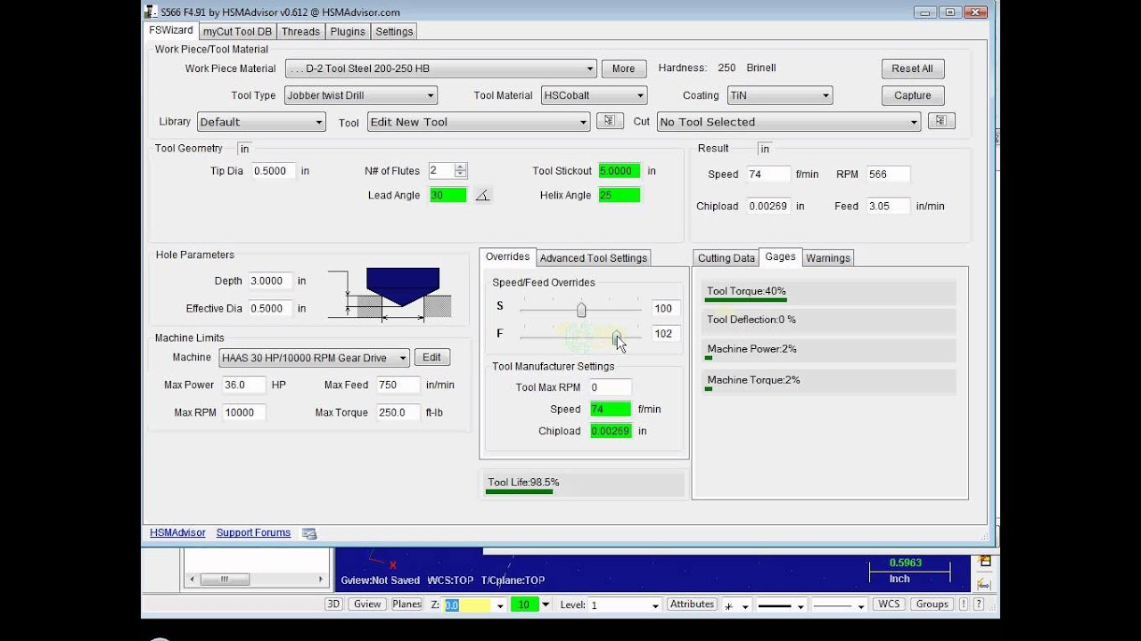 HSMAdvisor Drilling and integration with Mastercam