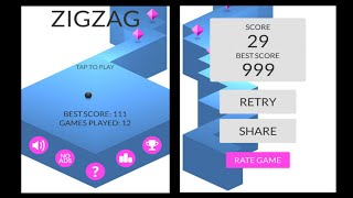 ZIGZAG by KetchApp Review   iOS App Gameplay & Beat Your High Score (iPhone, iPad)