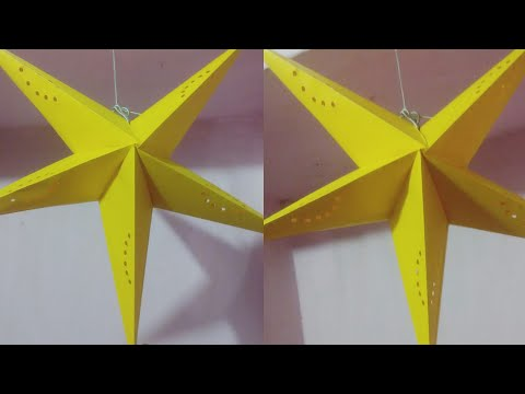 DIY Star Lantern // How to Make Paper Star Lantern for Christmas Decoration