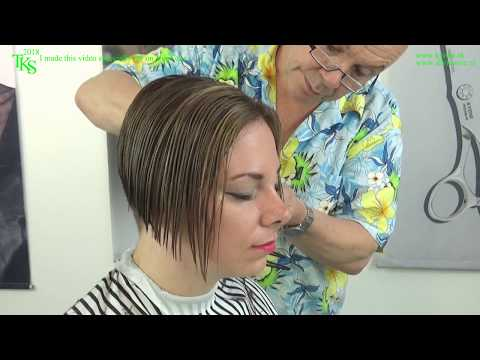 My boring hair into a trendy bob & color* Tutorial cut & color with Chantal by TKS Mp3