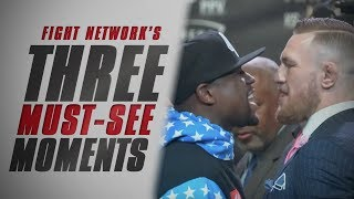 Top 3 Must-See Moments from Mayweather vs. McGregor World Tour Los Angeles Press Conference