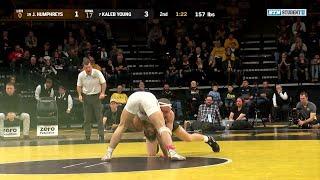 157 Pounds: #19 Josh Humphreys (Lehigh) vs. #7 Kaleb Young (Iowa) | Big Ten Wrestling