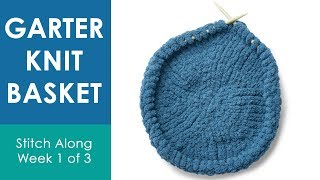 HOW TO KNIT A BASKET (Week 1 of 3) 💖 Bernat Stitch Along