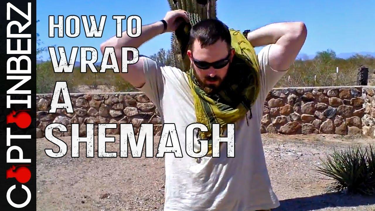 How to wear a keffiyeh around your neck