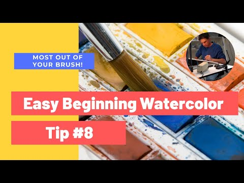 Beginning Watercolor Tip 8: Getting the most out of your brush