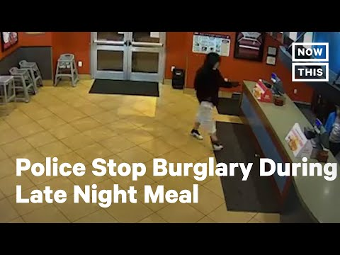 These Police Stopped A Burglary In The Middle Of Their Meal | NowThis