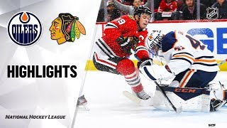 Oilers @ Blackhawks 10/14/19 Highlights