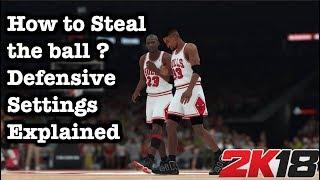 NBA 2K18 How to Steal Tutorial. 2K18 Defensive Settings Explained: Best 2K18 stealing tips #56