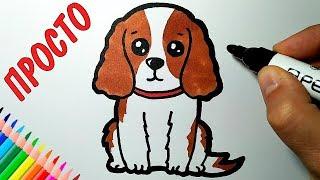 как нарисовать собаку?Легко и просто!))