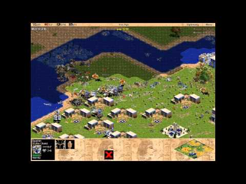 Egypt vs 7 hardest Yamatos. Random map battle. Age of Empires. Rise of Rome