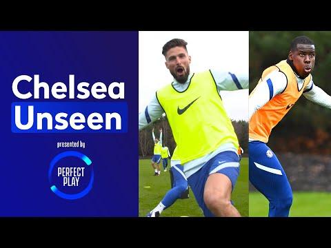 Olivier Giroud Bosses The Bin Challenge 🤣 Kurt Zouma Scores A Worldie 🚀   Chelsea Unseen