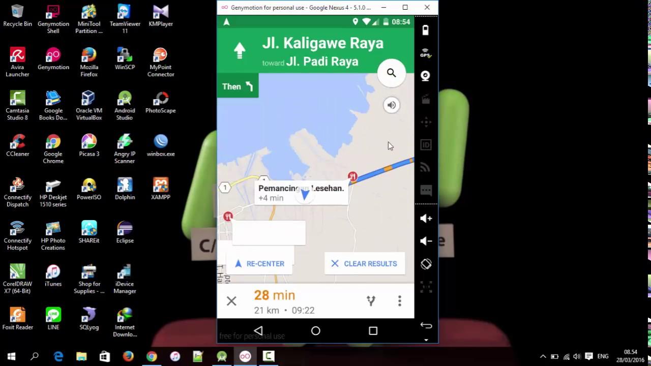 Tutorial Membuat Navigasi Menggunakan Google Maps Intents Android Demo Youtube