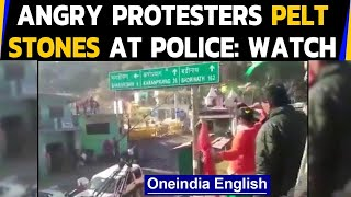 Uttarakhand: Angry protesters march towards state assembly, why did they pelt stones?|Oneindia News