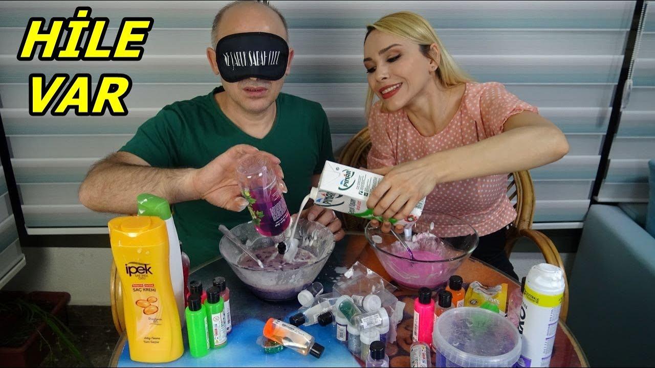 Slime Şakası Gözü Kapalı Slime Challenge Çöplük Slime Rukiye Çetinkaya