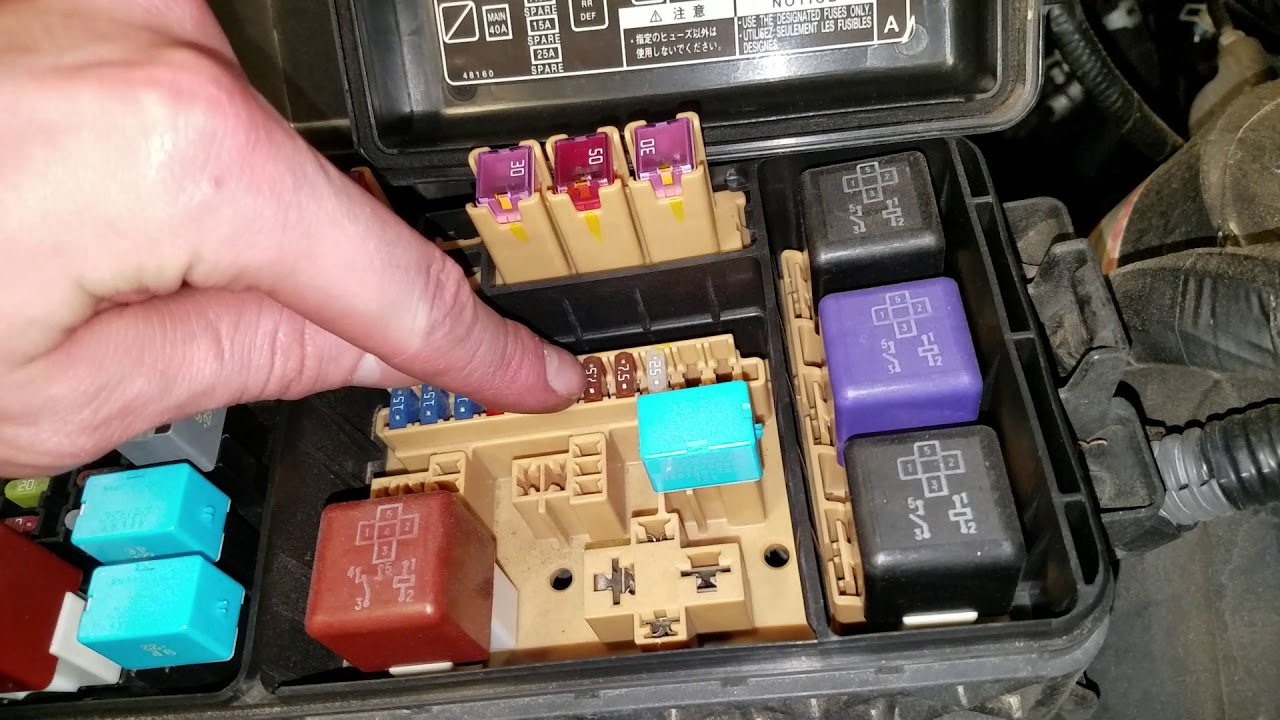 small resolution of toyota highlander 2005 starter relay and fuse location
