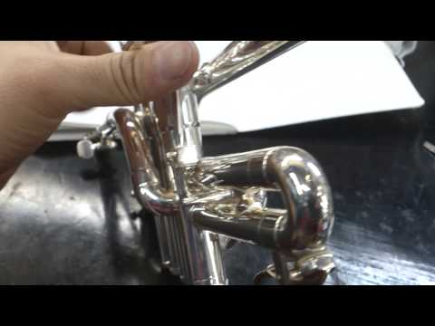 Schilke piccolo trumpet automatic #3 slide trigger シルキーピッコロトランペット第3抜き差しオートトリガー