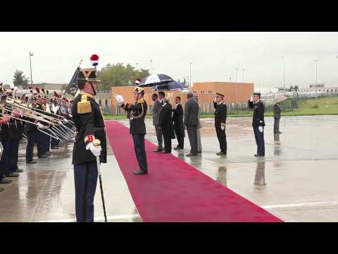 Arrival in France of President Kagame