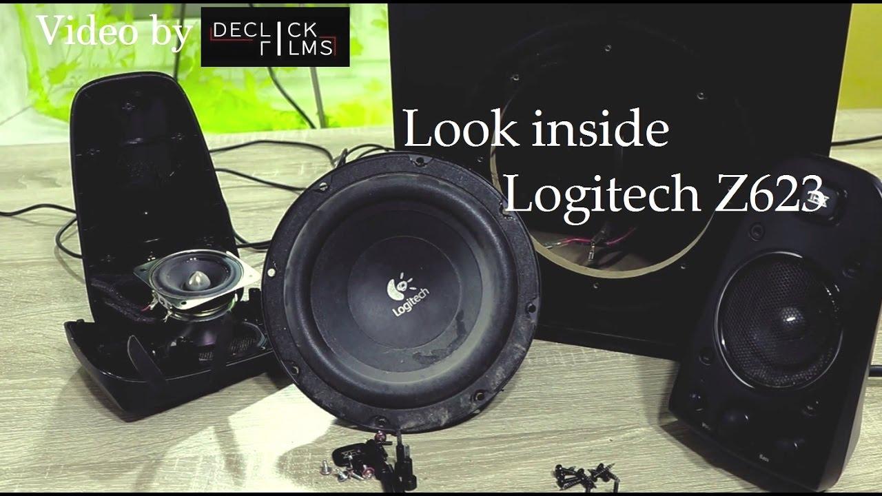 Look Inside Logitech Z623 Thx Speakers  Video By Declick