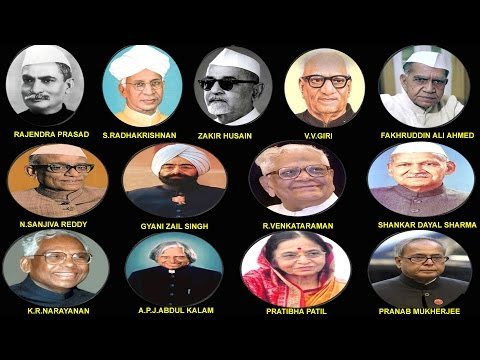 INDIAN ALL PRESIDENT LIST WITH PHOTO (1950-2012) || भारत के