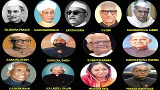 INDIAN PRESIDENTS COMPLETE DETAILS LIST ((1950-2012)
