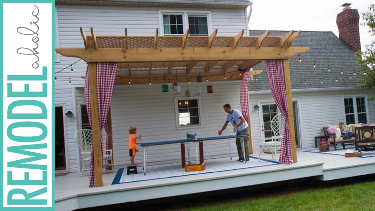 How To Build A Pergola Youtube