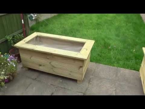 Diy Make Brilliant Raised Wooden Planters From Decking Boards Pt 1