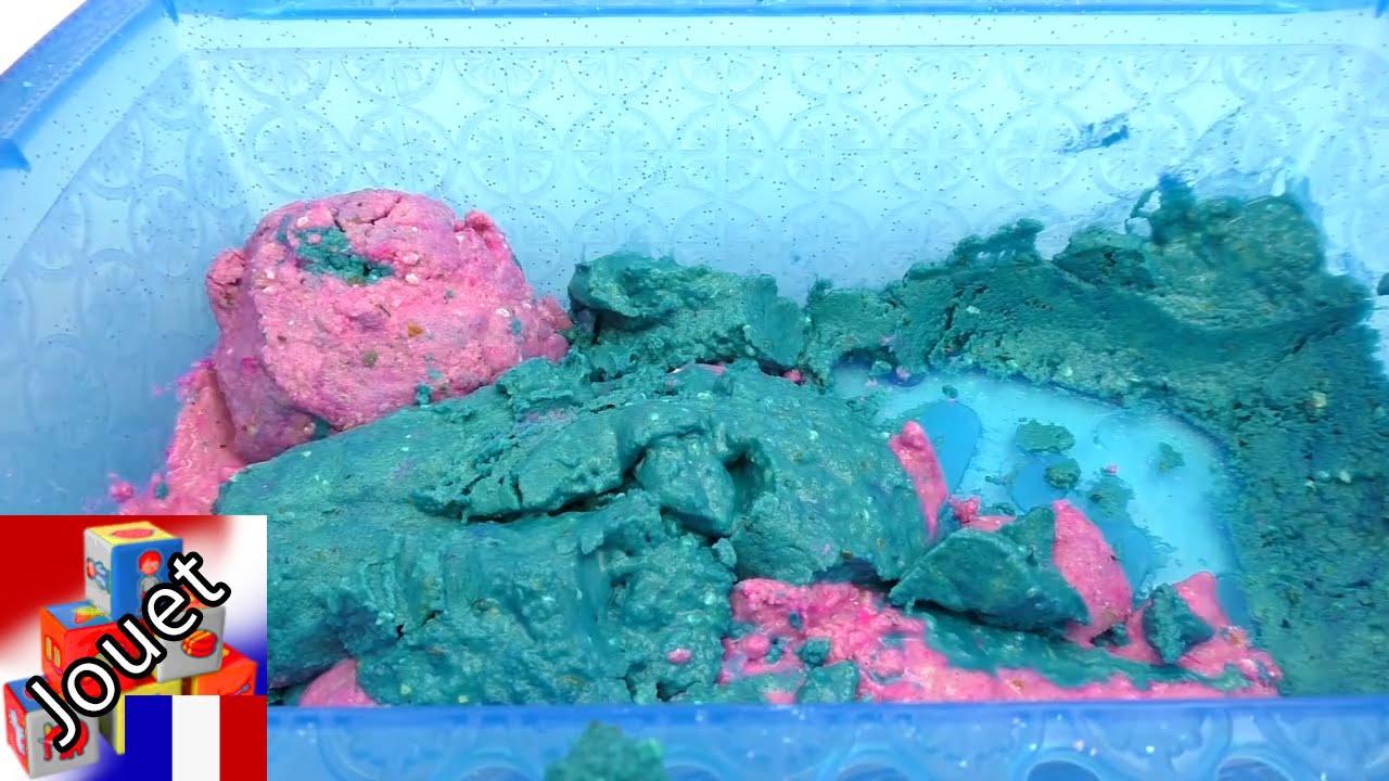 fabriquer du sable cin tique soi m me recette pour fabriquer du sable magique multicolor youtube. Black Bedroom Furniture Sets. Home Design Ideas