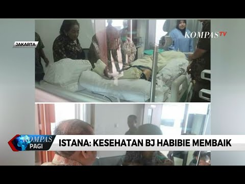 Presiden Jokowi Jenguk BJ Habibie di RSPAD