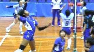 春高バレースパイク練習【宮部藍梨・金蘭会 vs 大阪国際滝井】大阪予選・決勝 High School Girls Volleyball Spike Haikyuu Japan