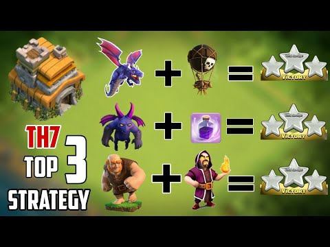 2018-19 | NEW TOP 3 TH7 ATTACK STRATEGIES  | DEFENSE REPLAYS | CLASH OF CLANS 2018.