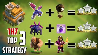 2018 | NEW TOP 3 TH7 ATTACK STRATEGIES  | DEFENSE REPLAYS | CLASH OF CLANS 2018.
