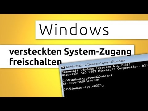 Windows versteckten System-Zugang
