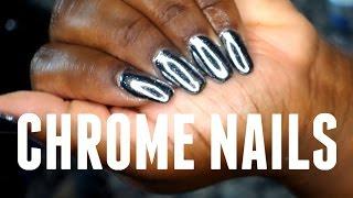 ♡ D.I.Y Chrome Nails !