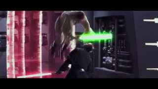 STAR WARS DARTH MAUL LIGHTSABER DUEL EXTENDED HD