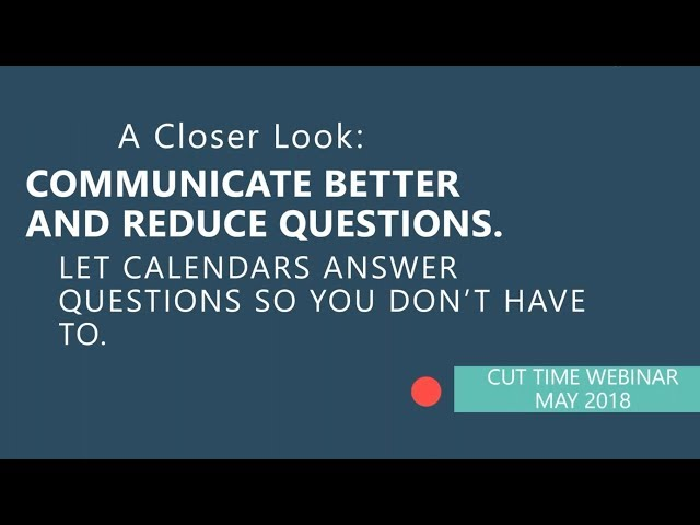 Cut Time Webinar: Communication Tools