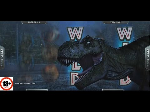 Jurassic Park Slot   ALL FEATURES + BIG WIN   Microgaming