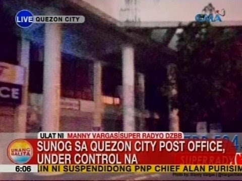 UB: Sunog sa Quezon City Post Office, under control na