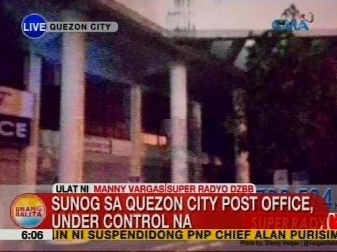 UB: Sunog sa Quezon City Post Office, under control na